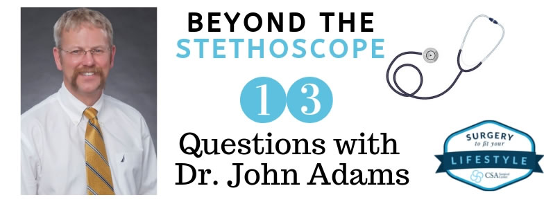 13 Questions with Dr Adams